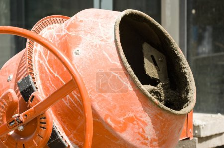 Photo for Cement mixer at a construction site - Royalty Free Image