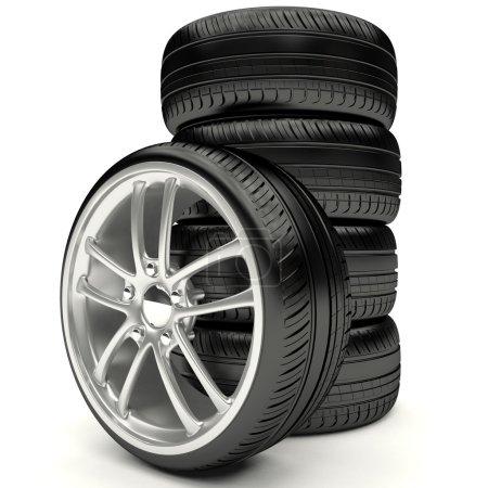 Kit of car wheels.