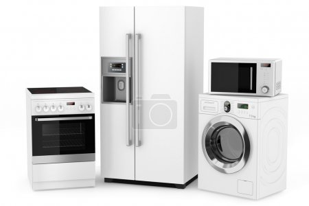 Photo for Group of household appliances on a white background - Royalty Free Image