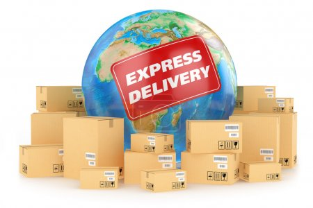 Photo for Express delivery worldwide. Concept - Royalty Free Image
