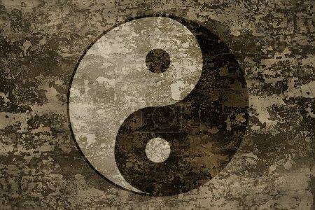The ancient oriental symbol of yin-yang