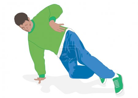 Break dance footwork