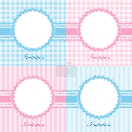 Set of invitation cards for baby shower or birthda...