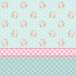 Vintage floral pattern with roses in shabby chic style as wallpaper
