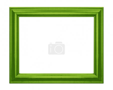 Photo for Old Antique Green frame Isolated Decorative Carved Wood Stand Antique Black Frame Isolated On White Background - Royalty Free Image