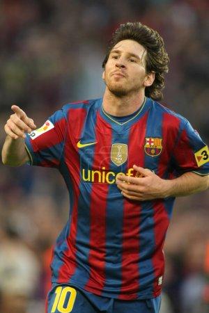 Leo Messi of Barcelona
