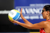 Spanyol strand röplabda játékos észter Ribera