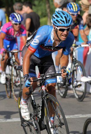 Garmin Sharp French cyclist Christophe Le Mevel ri...