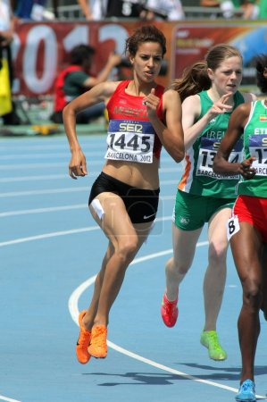 Manal El Bahraoui of Morocco during 800 meters event