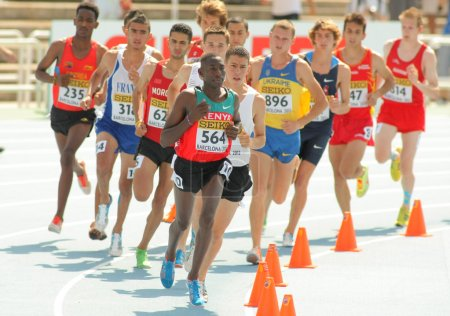 Competitors of 3000m steeplechase event