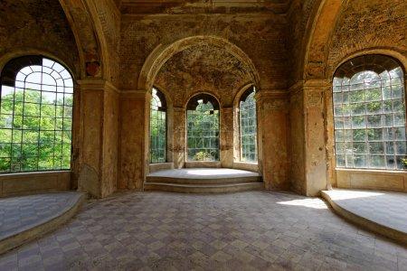 Inside a ruined castle