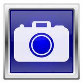Modrý lesklý ikona