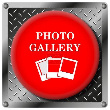 Photo gallery metallic icon