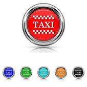 Sada šesti barvách taxi ikon-