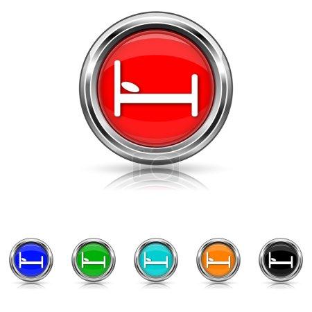 Hotel icon - six colours set