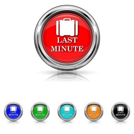 Last minute icon - six colours set