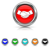Agreement icon - six colours set
