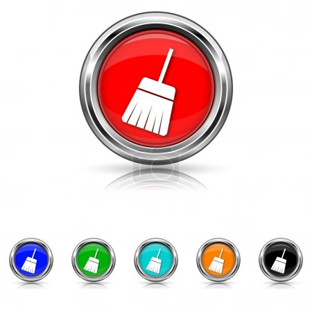 Sweep icon - six colours set