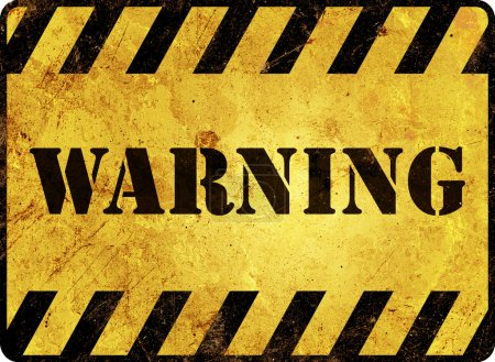 Photo for Warning Sign - Royalty Free Image