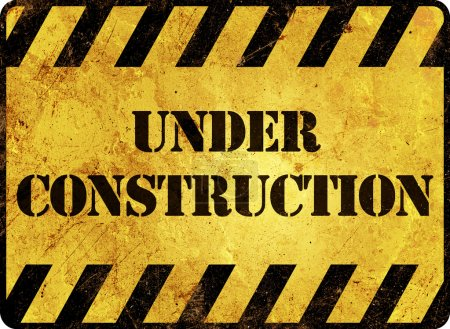 Photo for Under Construction Warning Sign - Royalty Free Image