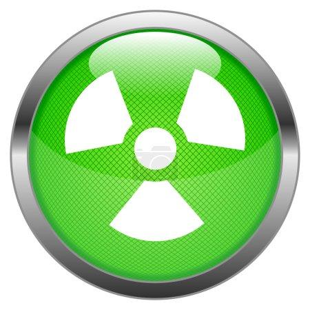 Vector Button Radioactivity
