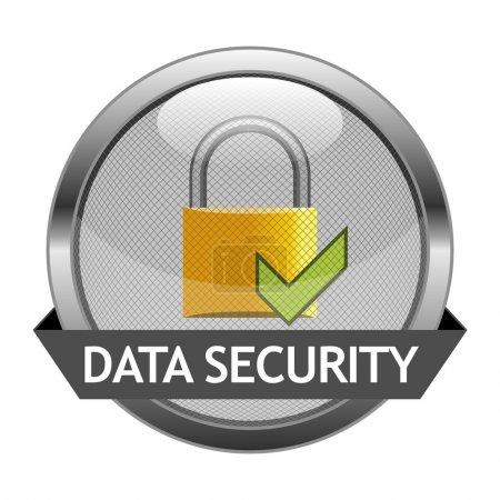 Illustration pour Bouton vectoriel Sécurité des données - image libre de droit