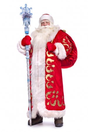 Photo for Santa Claus in full growth with a stick - Royalty Free Image