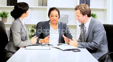 African American Businesswoman Office Team Meeting