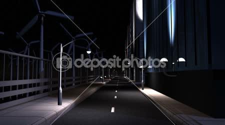CG Konzept Stadt Beleuchtung saubere Energie