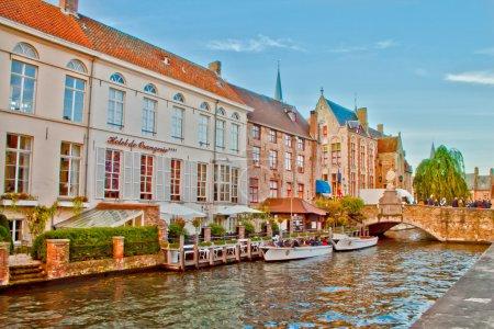 Beautiful Nature Scene in Brugge,Belgium