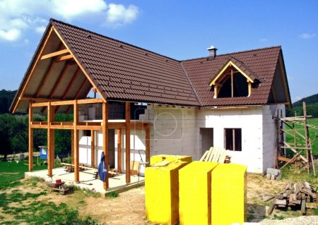 House under construction residential...