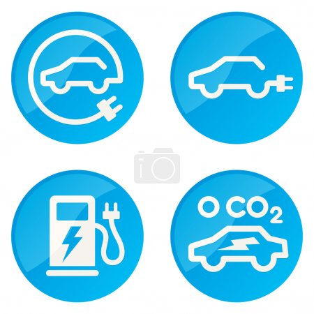 Electric Car vector icons