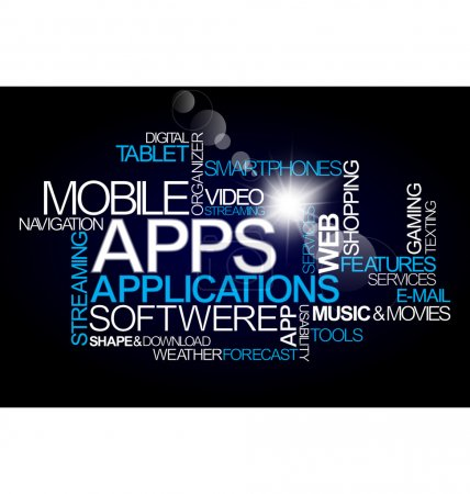 Photo pour Vecteur d'application mobile logiciel - image libre de droit