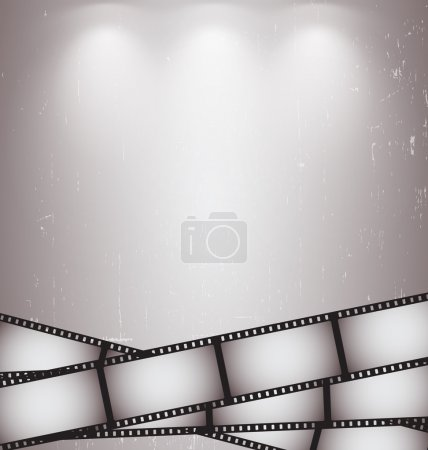 Camera film background vector