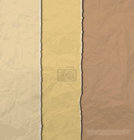 Illustration for Torn brown creased paper background vector - Royalty Free Image