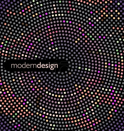 Modern design with color points...