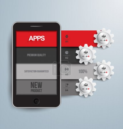 Mobile software application vector