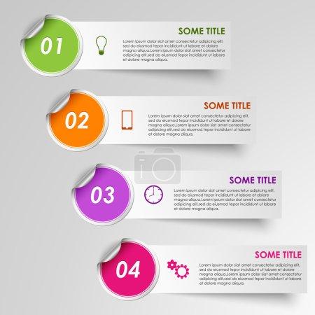 Info graphic progress stickers template