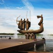 Famous monument to mythical founders of Kiev.Ukrai...