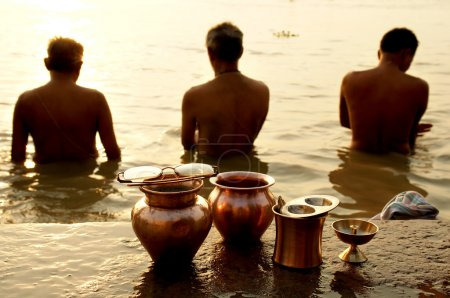 Morning ritual on the Ganges river