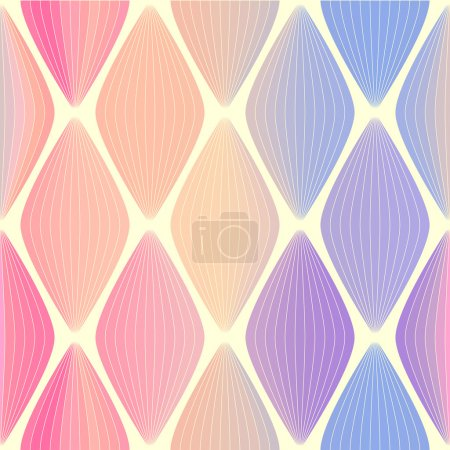Colorful abstract vector seamless retro background