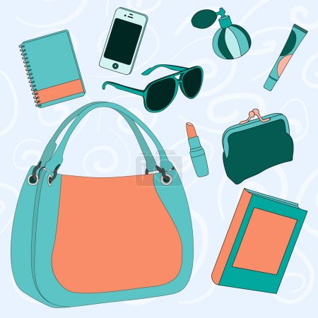 What is stored in the women's bag?