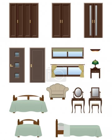 Illustration for Illustration of interior - Royalty Free Image