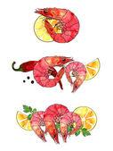 Mořské plody sada