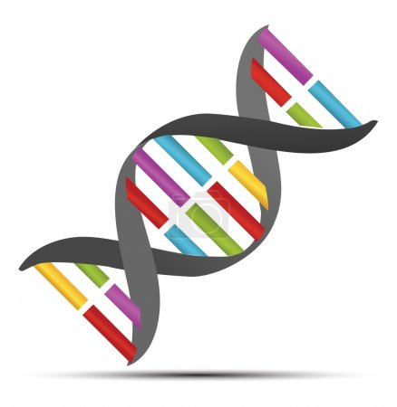 Illustration for Dna strands icon - Royalty Free Image