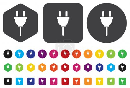 Illustration pour Bouton Power plug - image libre de droit