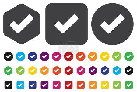 Illustration pour Cocher le bouton - image libre de droit