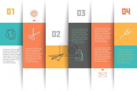 Illustration pour Modèle de conception vectorielle conceptuelle. élément d'infographie - image libre de droit