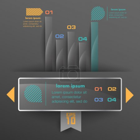 Conceptual vector Design template. infographics element