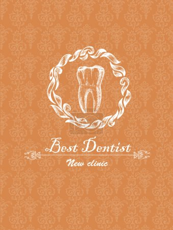 Vintage pattern dentist